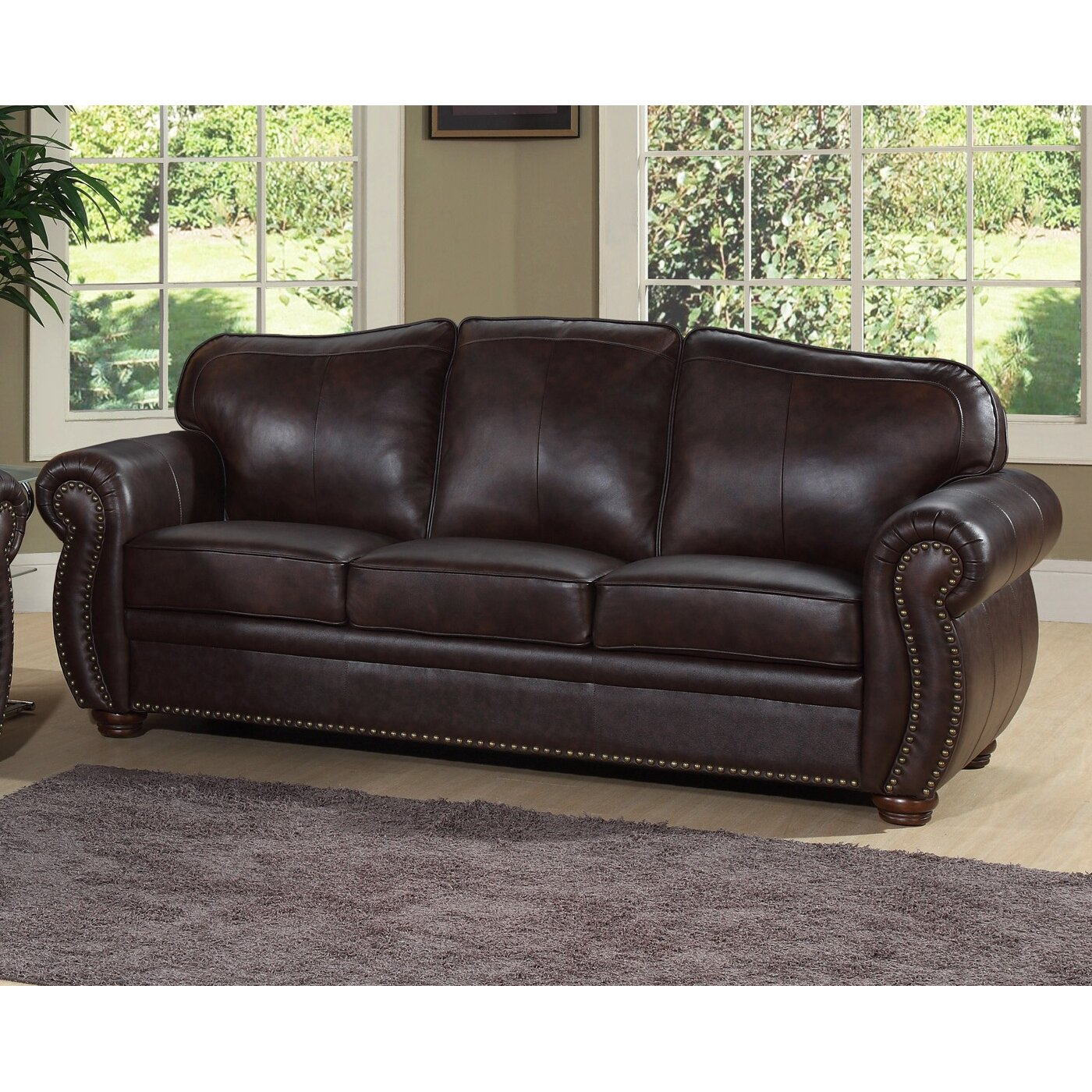 Leather Living Room Astoria Grand Nassau Leather Living Room Collection Reviews