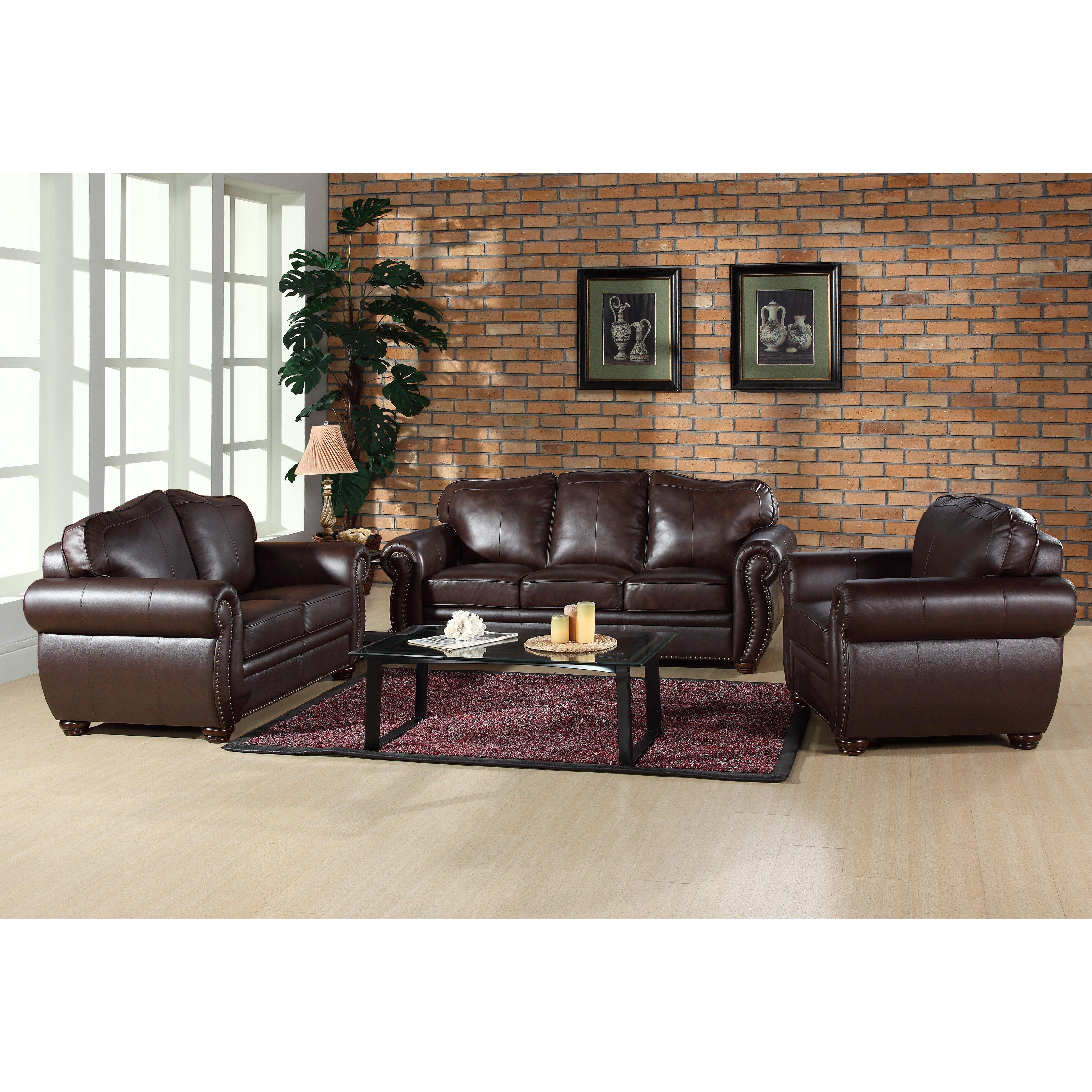 Astoria Grand Nassau Leather Sofa & Reviews