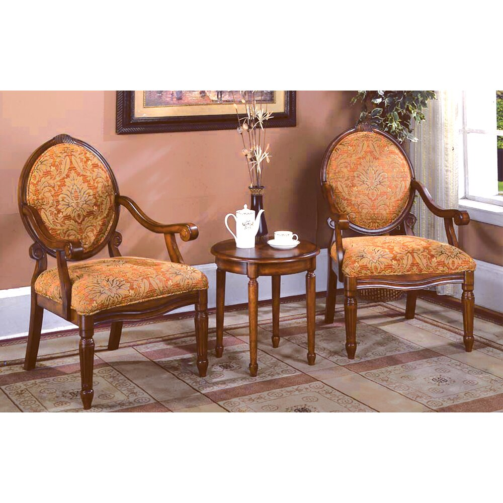 Astoria Grand Oreanda  Pieces Living Room Arm Chair Set  Reviews - Arm chairs living room