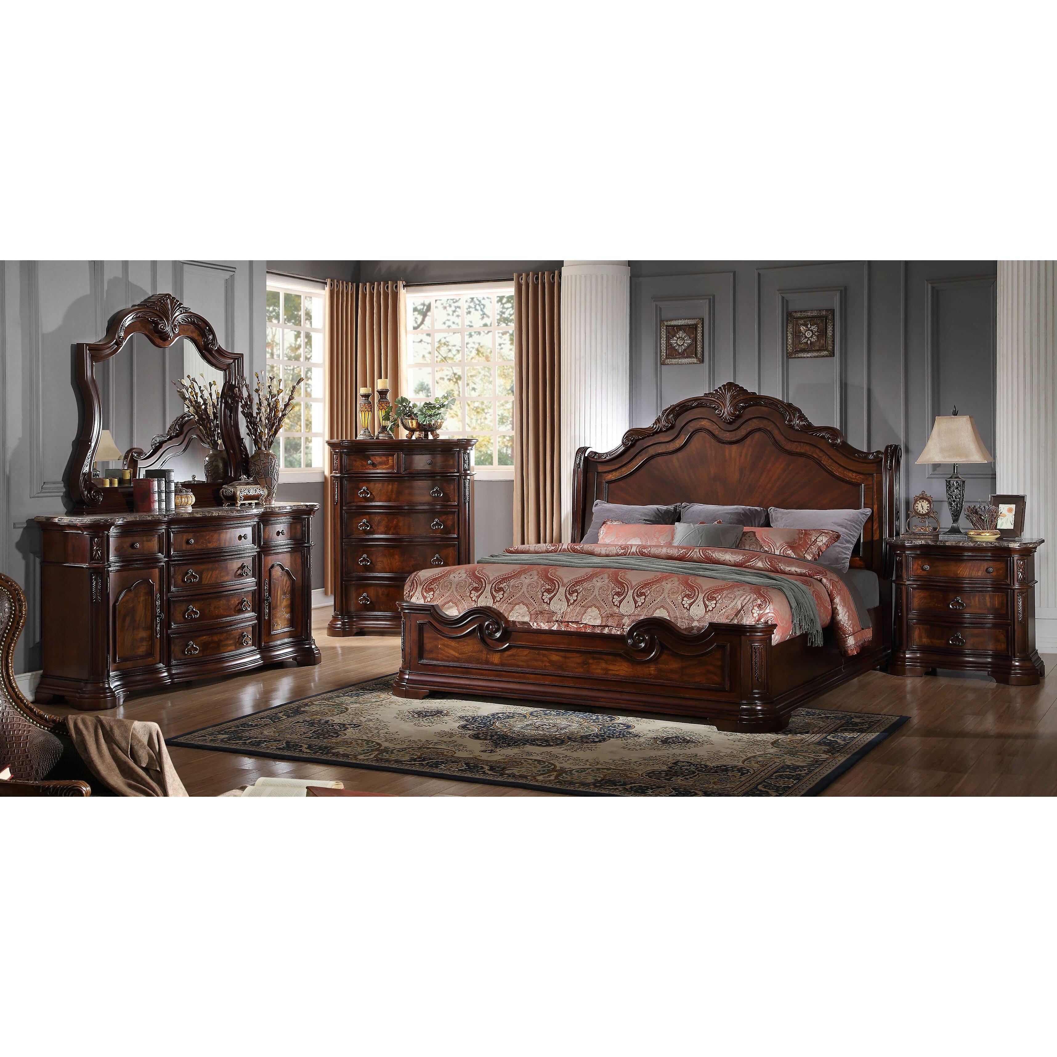 King Bed Bedroom Sets King Bedroom Sets Youll Love Wayfair