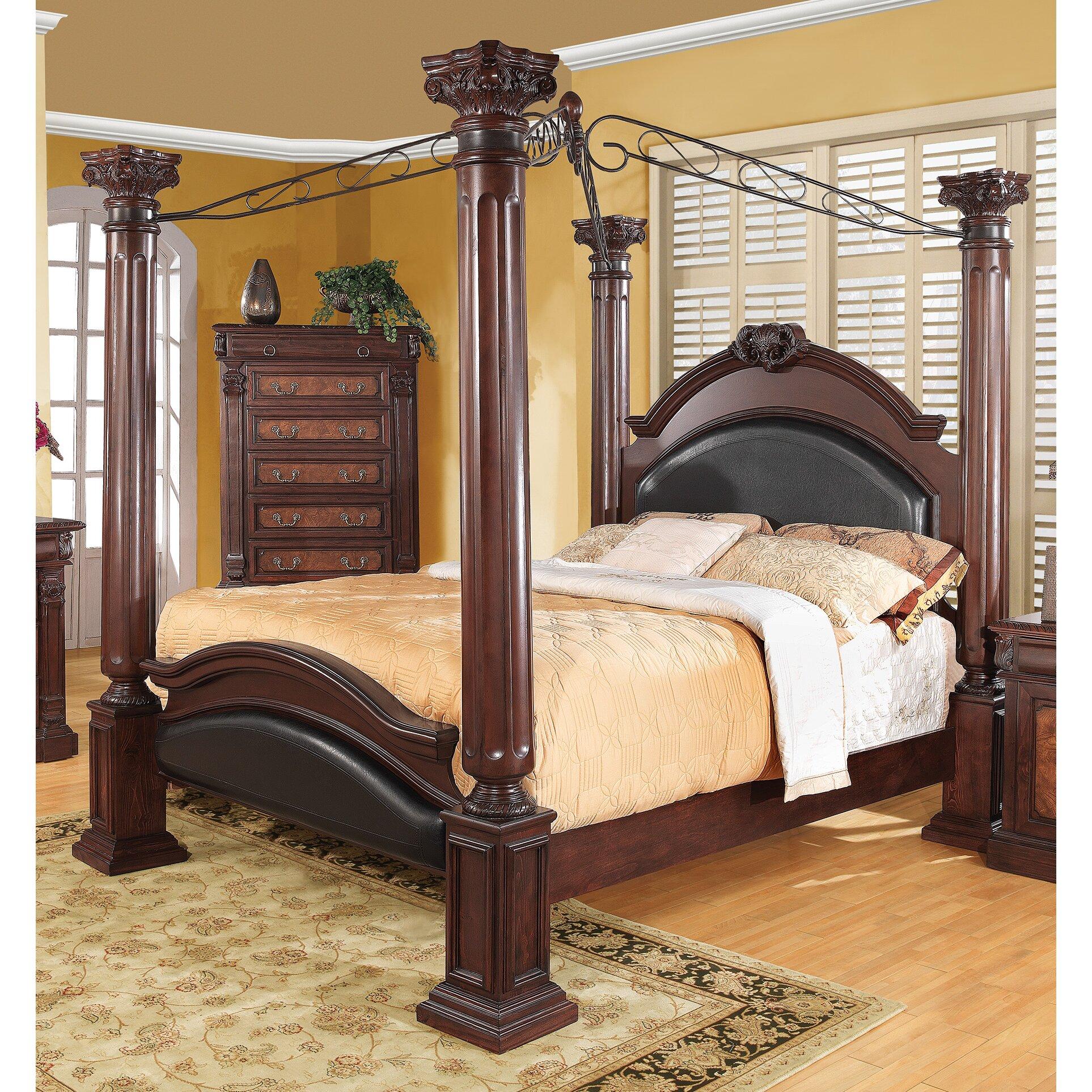 Canopy Beds You'll Love | Wayfair - Fechteler Upholstered Canopy Bed