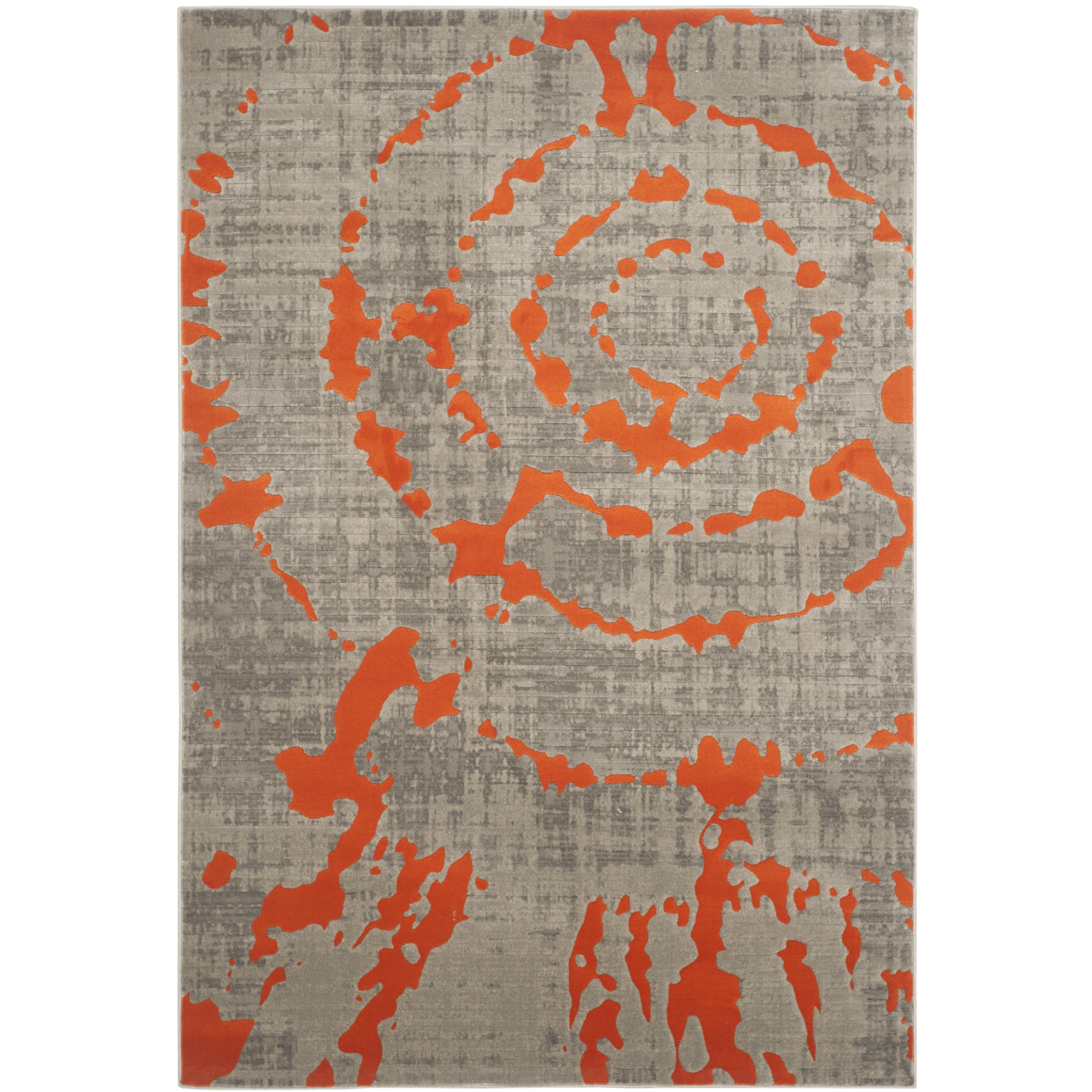 x  large orange u gray area rug – modern grays. orange gray rug  roselawnlutheran