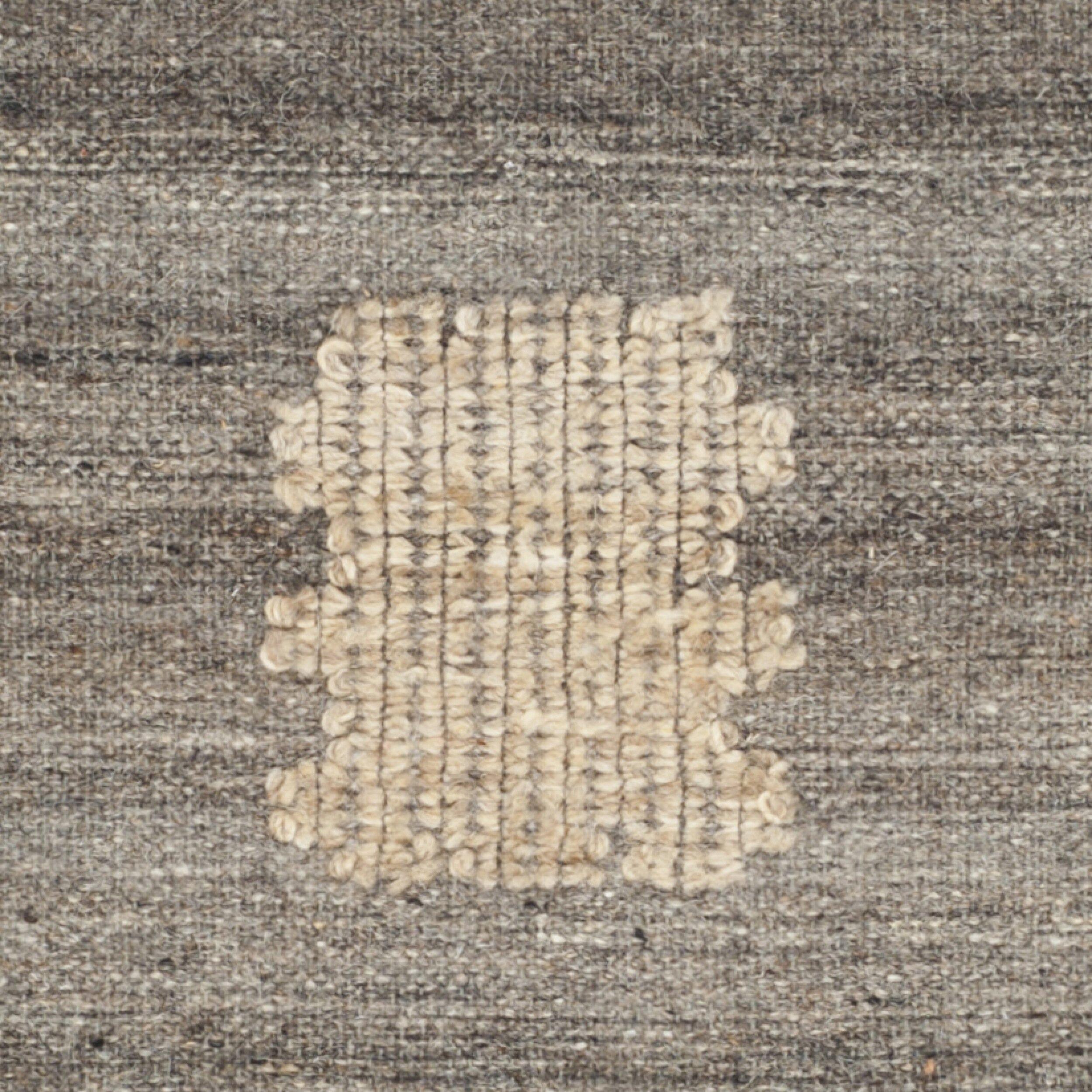 World Menagerie Katya Ivory Wool Flat Woven Area Rug