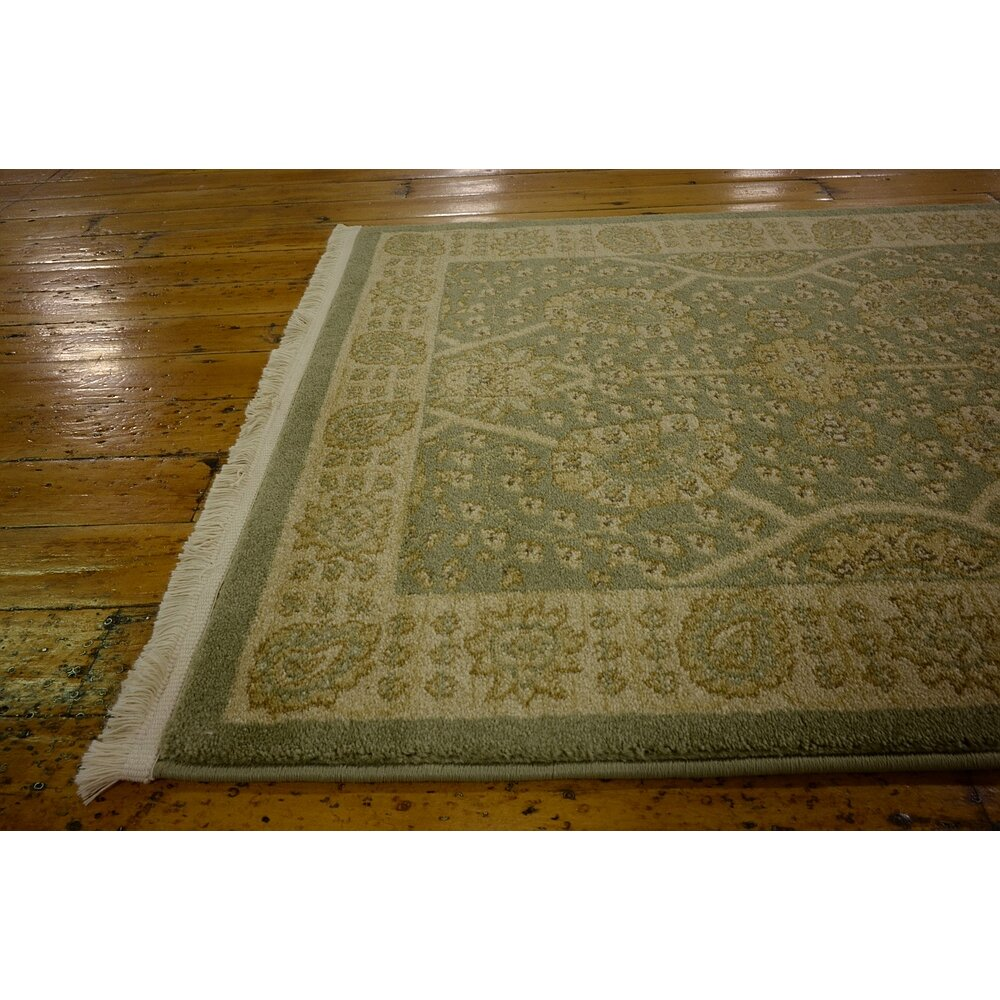 World Menagerie Fonciere Sage Green Area Rug Amp Reviews