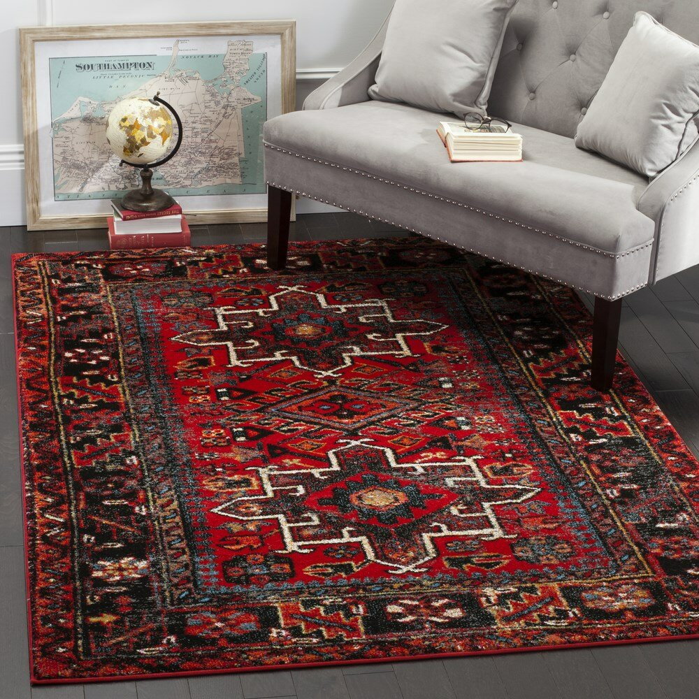 Red Living Room Rug World Menagerie Byron Red Area Rug Reviews Wayfair