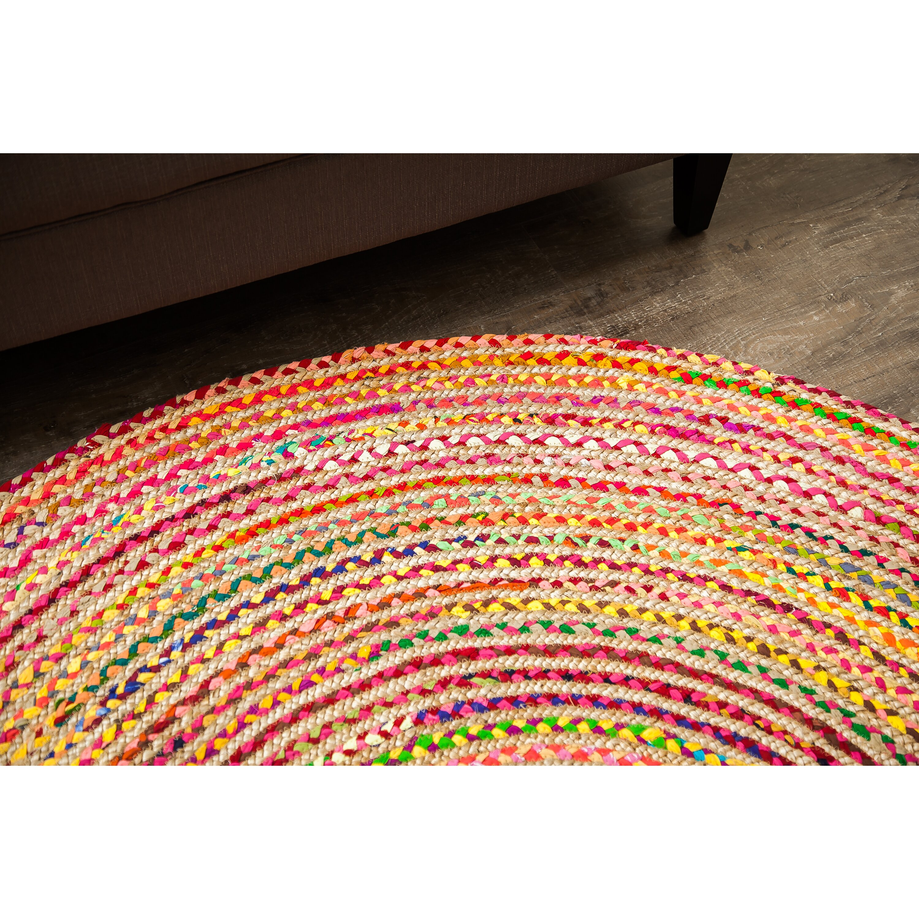 World Menagerie Barnett Handmade Pink/Yellow/Green Area