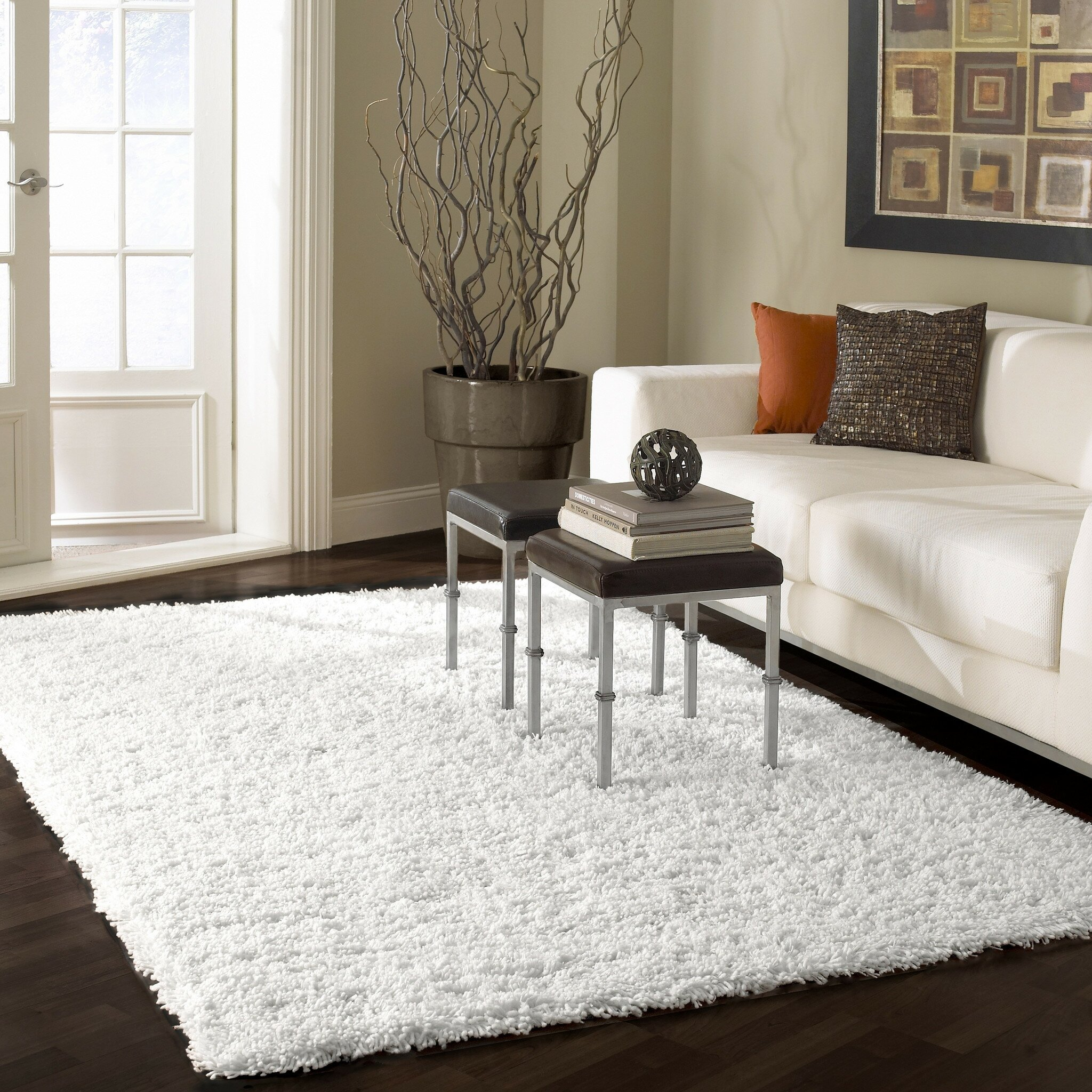 Mercer41 renwick white area rug