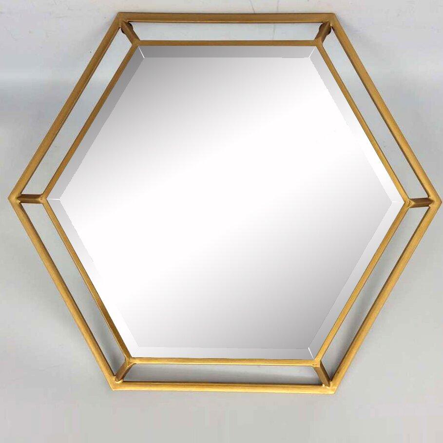 Mercer41 Hexagon Wall Mirror & Reviews | Wayfair