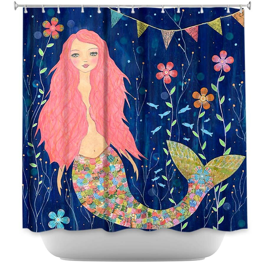 Mermaid shower curtains - Dianoche Designs Mermaid Shower Curtain