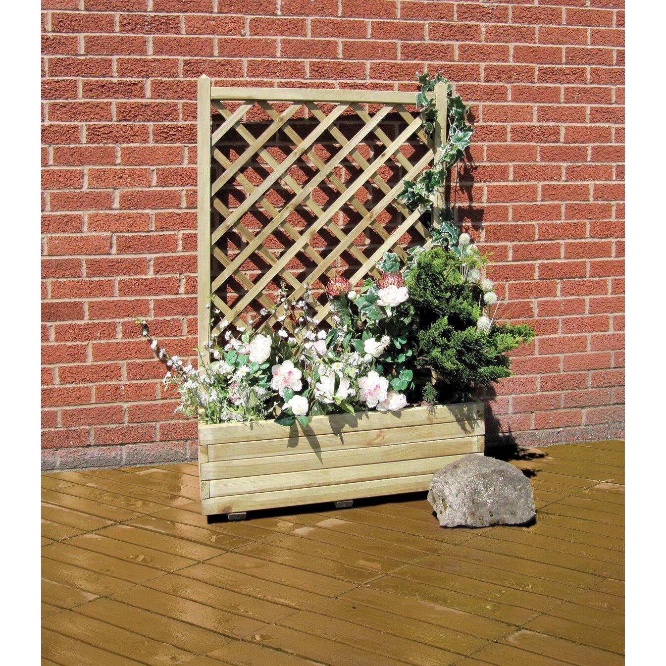 Planter Fence: Grange Fencing Rosa Rectangular Planter & Reviews