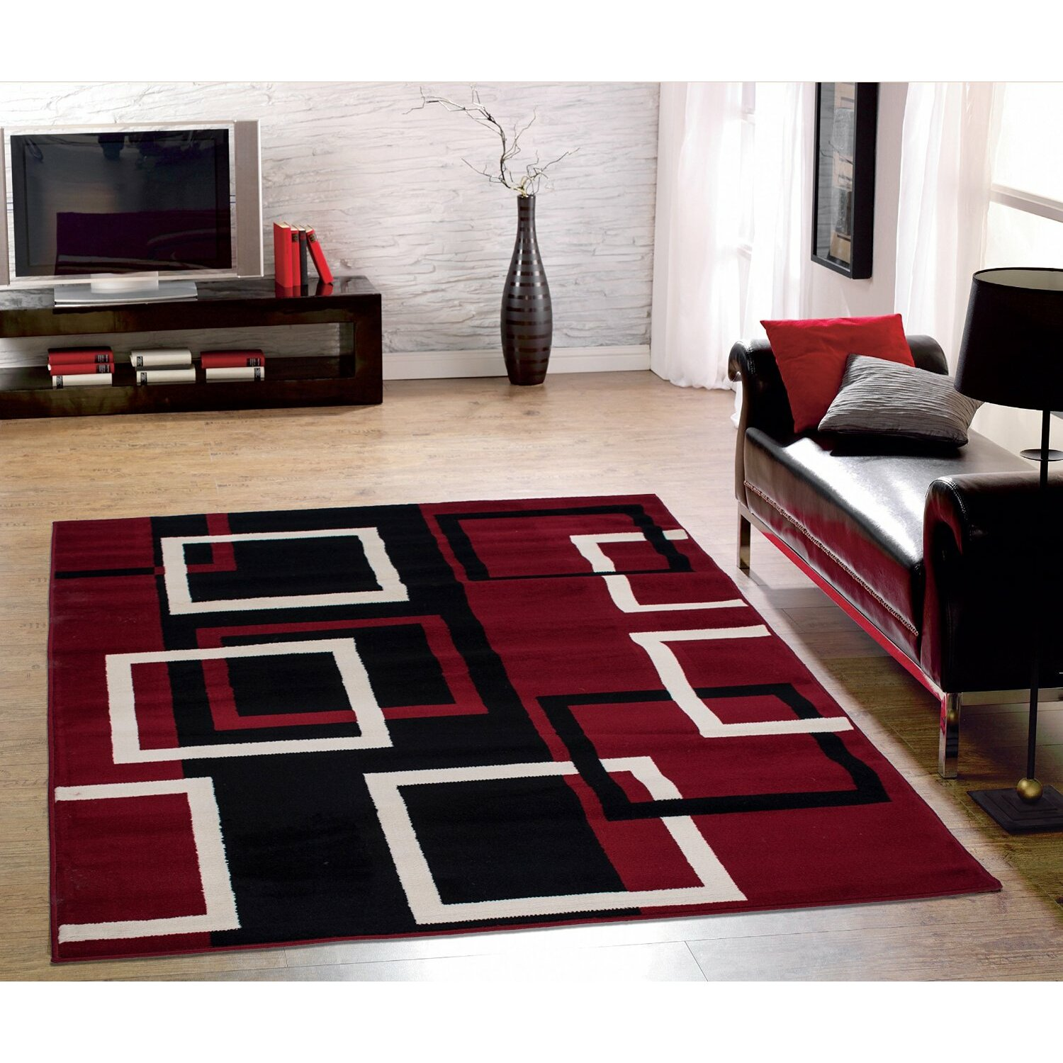 Rug Sets For Living Rooms Sweet Home Stores Clifton Dark Red 3 Piece Area Rug Set Reviews