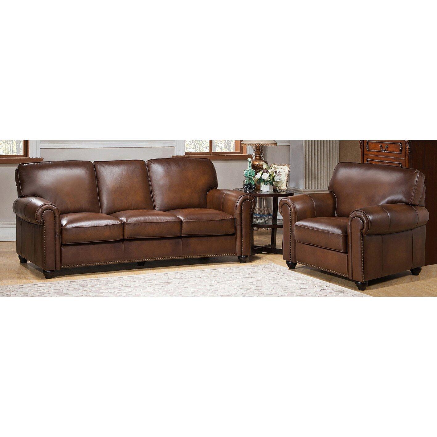 Leather Living Room Sets Amax Aspen 2 Piece Leather Living Room Set Wayfair