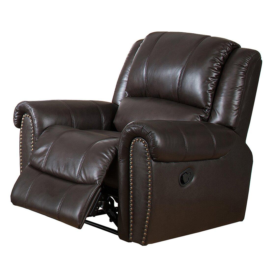 Italian Leather Sofa Charlotte Nc: Amax Charlotte Leather Recliner Sofa And Chair Set