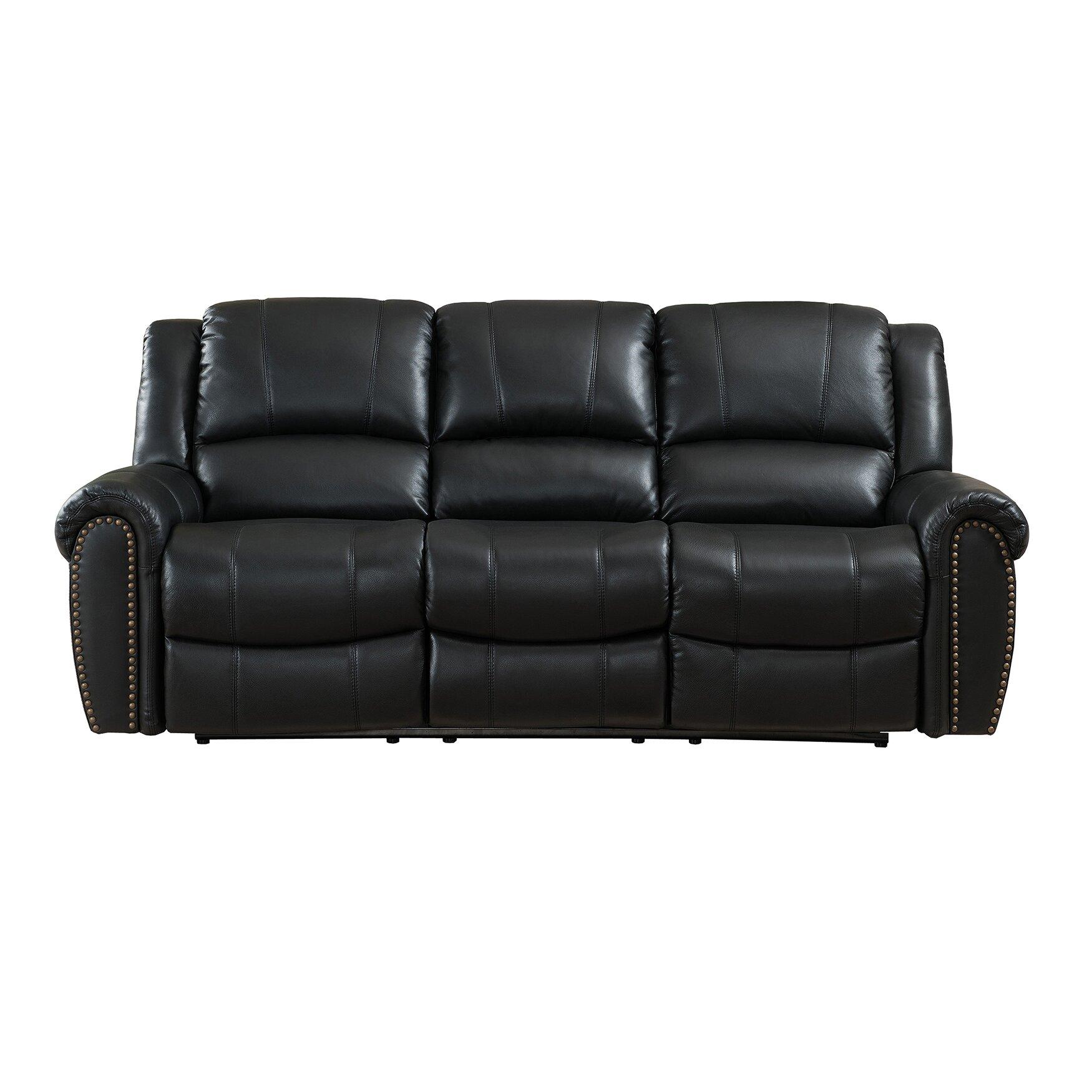 amax houston leather reclining sofa reviews wayfair