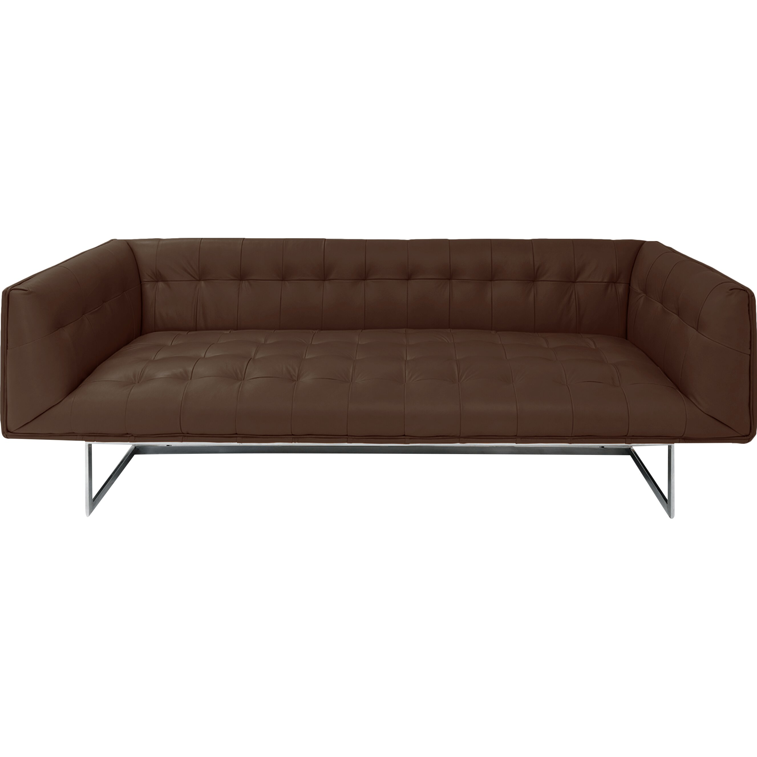 ^ Kardiel dward Mid entury Modern Leather Sofa & eviews Wayfair