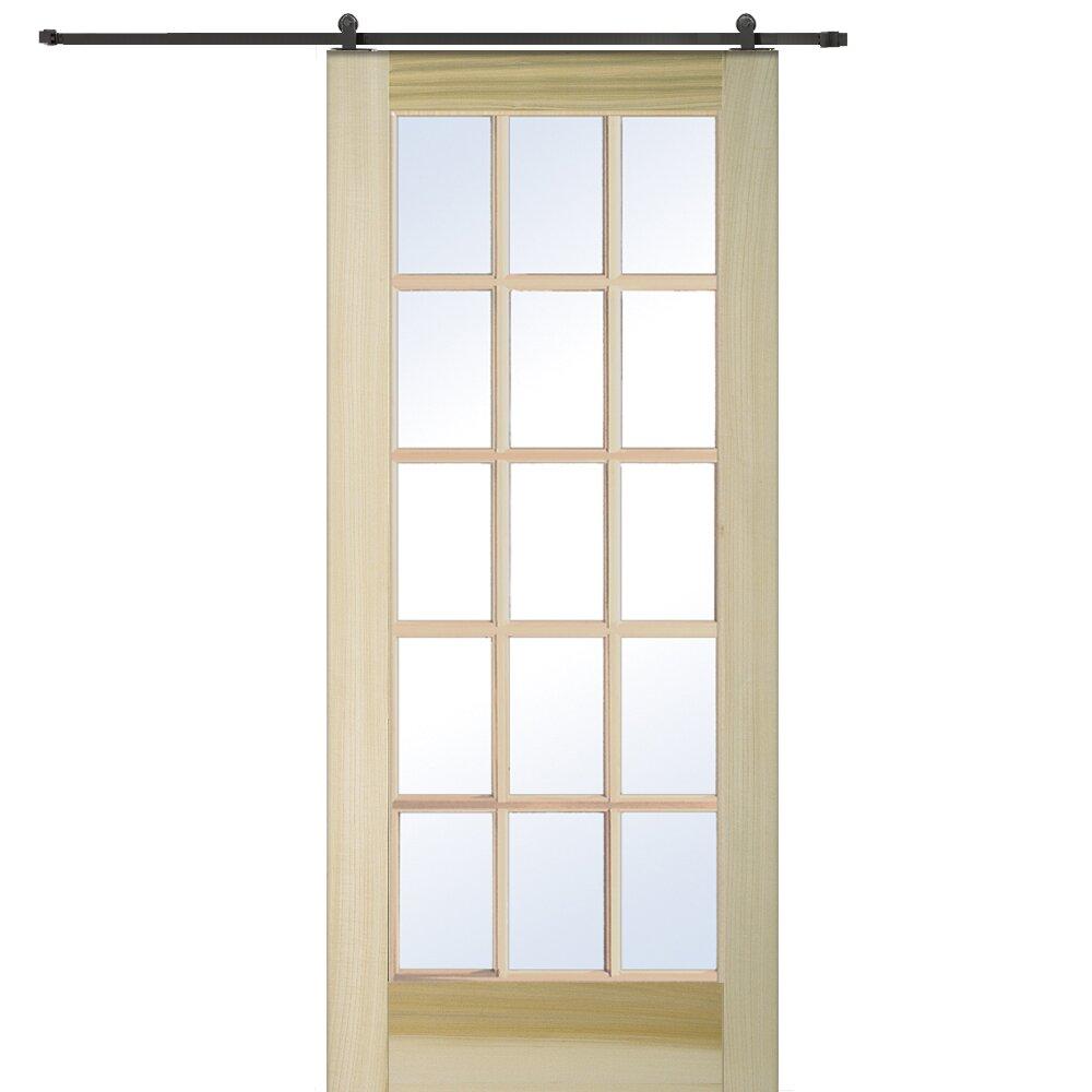 Verona home design wood interior barn door reviews wayfair - Interior design verona ...