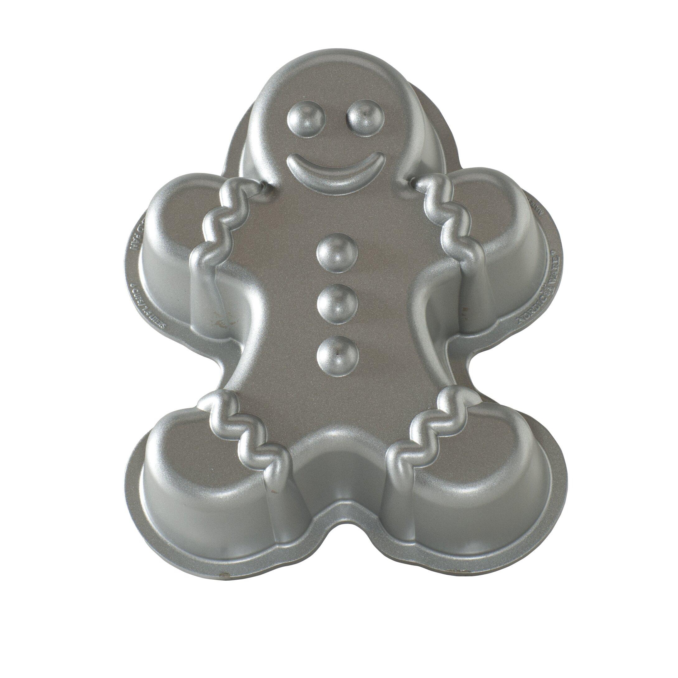 Gingerbread Kitchen Curtains The Holiday Aisle Gingerbread Man Cake Pan Reviews Wayfair