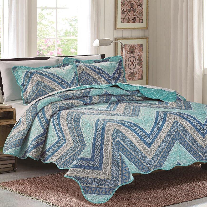 Glory Home Design Emma 3 Piece Quilt Set & Reviews ...