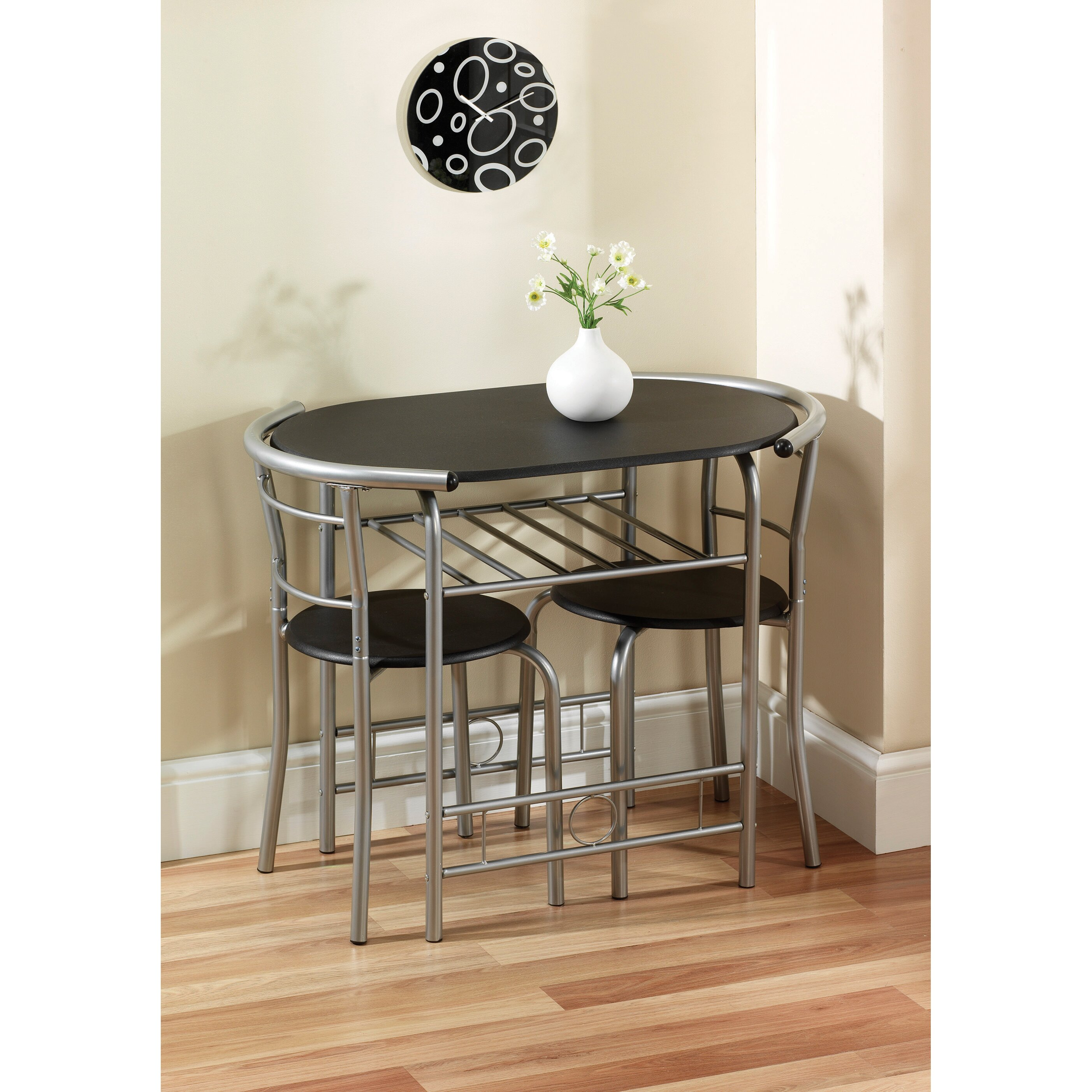 Table pedestals lowes hickory end table 36 x 48 dining for All black dining room set