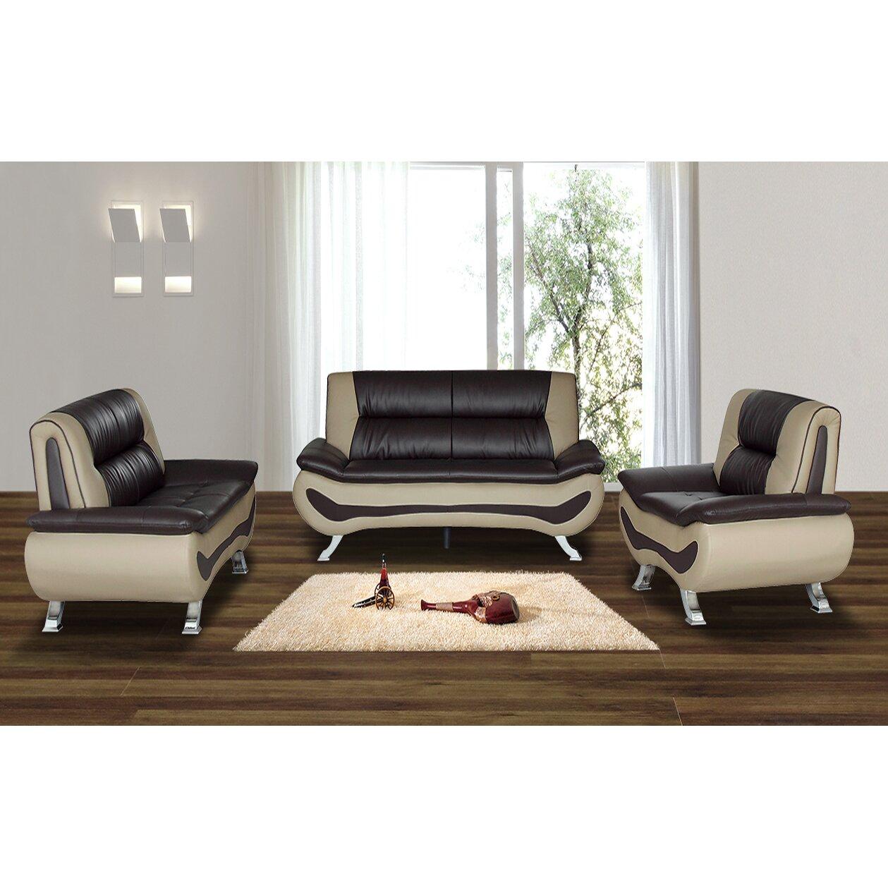 living in style austin 3 piece living room set & reviews | wayfair