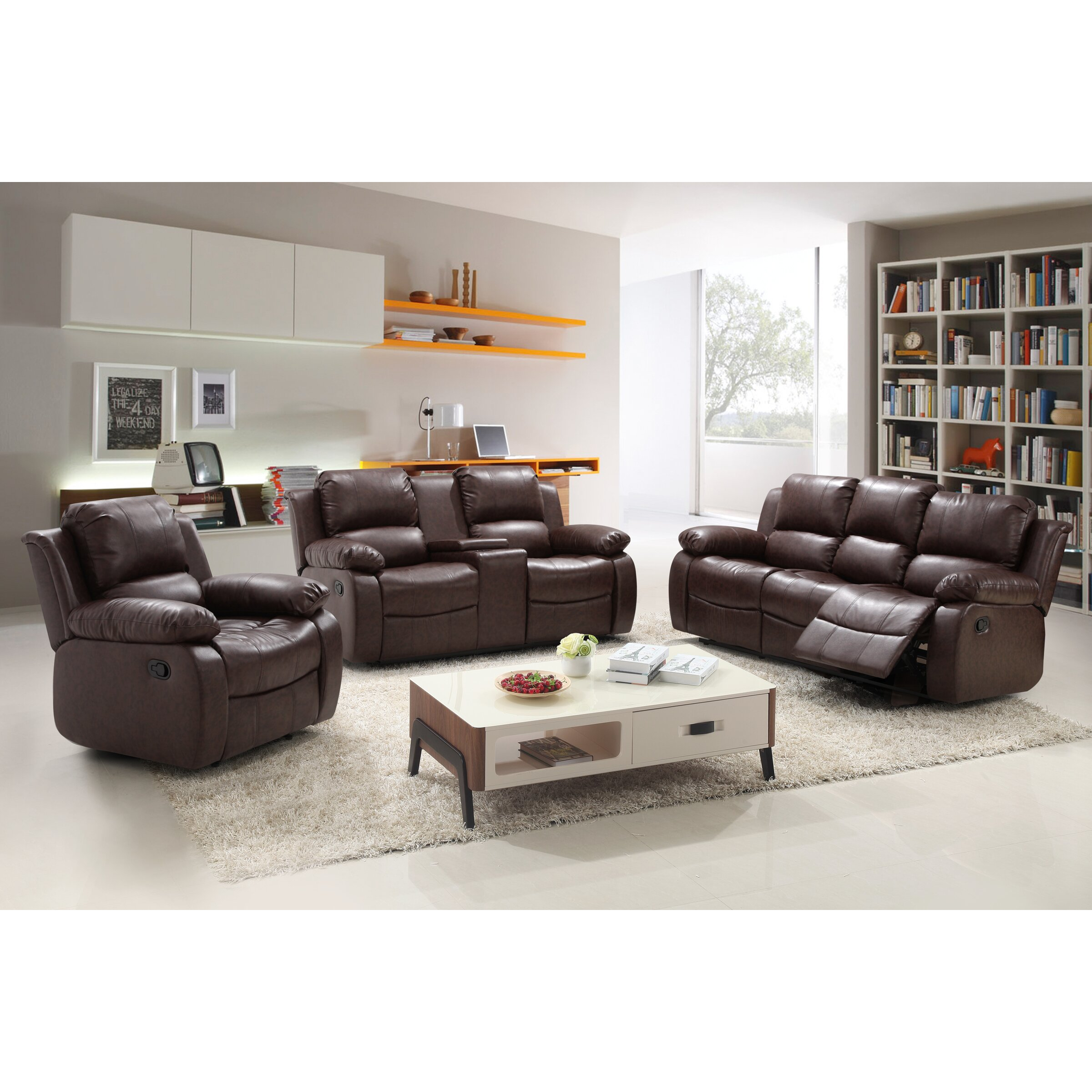 3 piece reclining living room set three living room set 23988