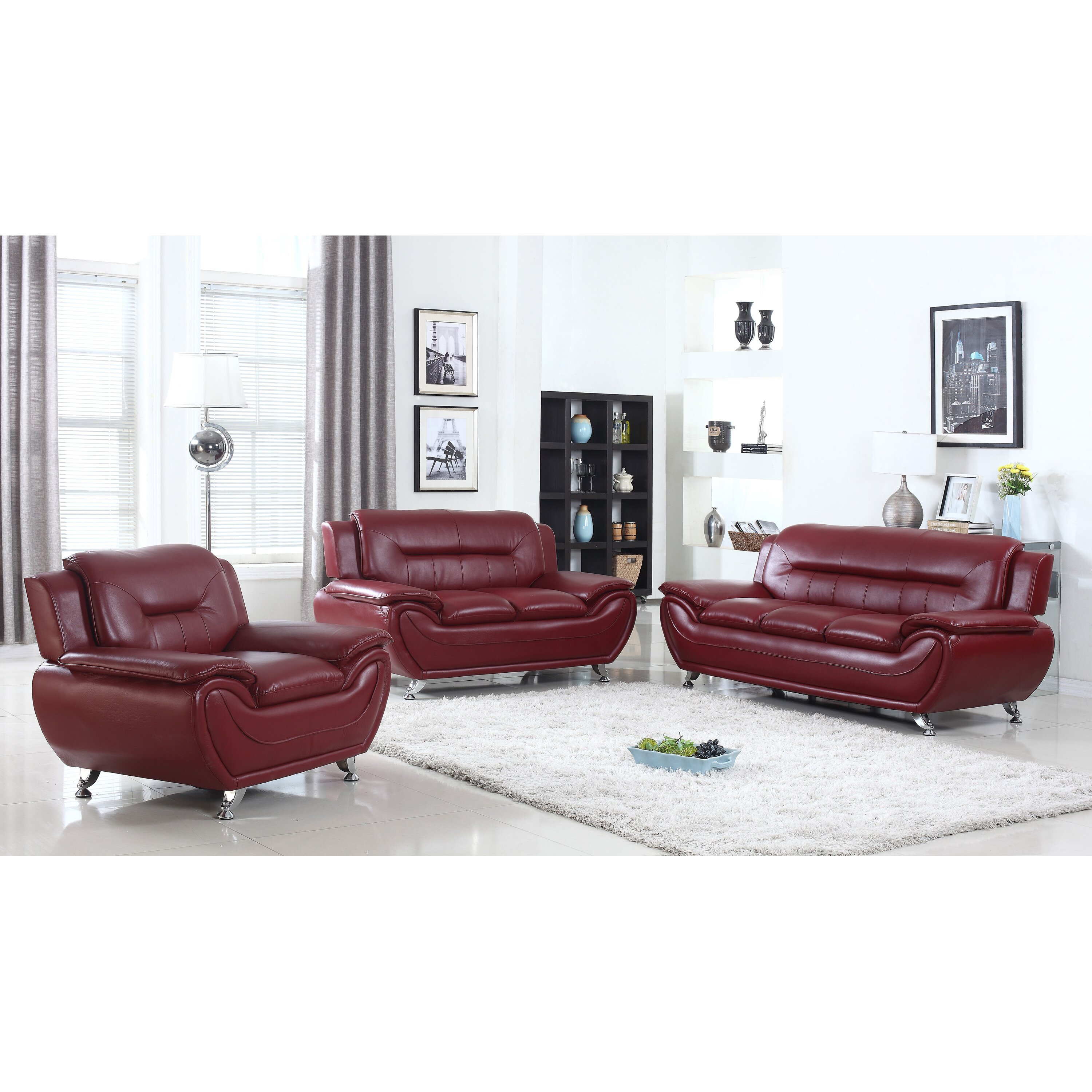 Living Room Furniture Pieces Living In Style Sophie 3 Pieces Sofa Set Reviews Wayfair