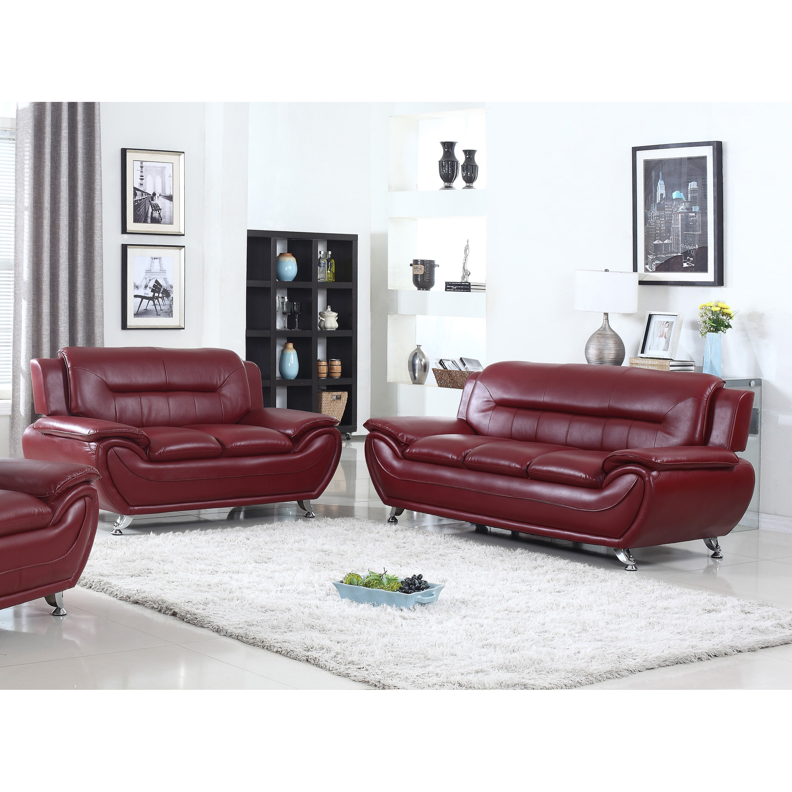 Living Room Sofa And Loveseat Sets Living In Style Sophie Modern Living Room Sofa And Loveseat Set