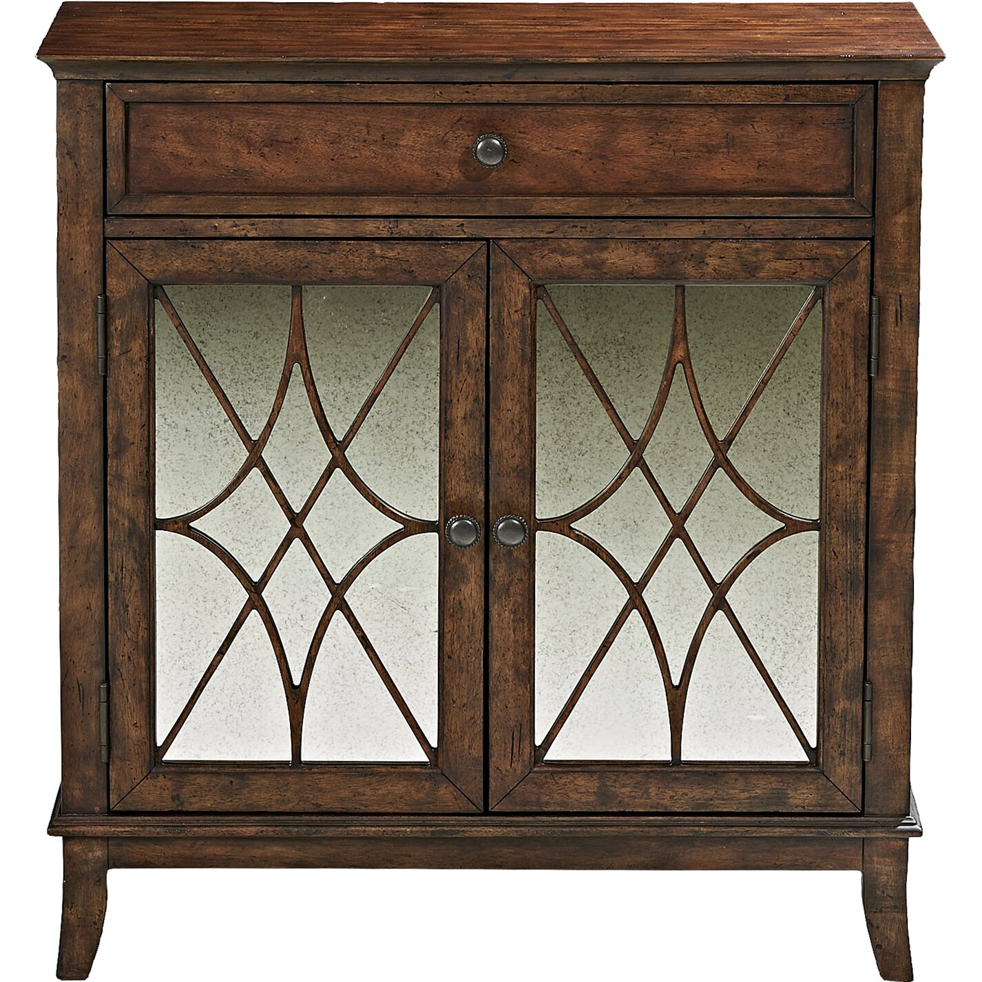 Doors and drawers adobe contemporary style flat panel cabinet door - Trisha Yearwood Home Collection Winslett 1 Drawer And 2 Door Cabinet