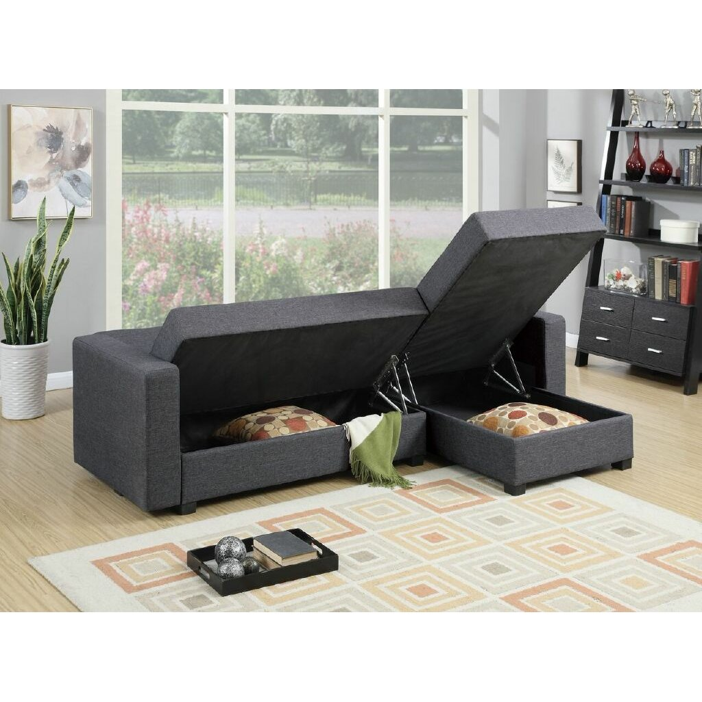 Image Result For Adjustable Sectional Sofa Bed With Storage Chaise