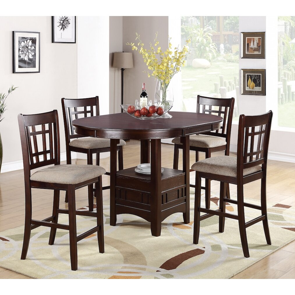 High Dining Room Table Sets: Infini Furnishings 5 Piece Counter Height Dining Set