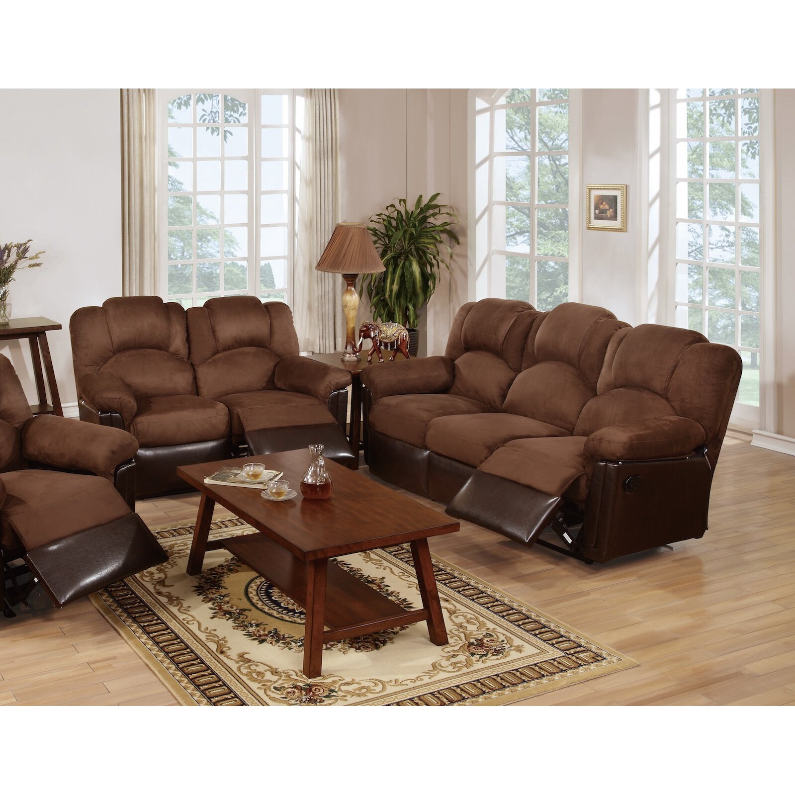 Infini Furnishings Ethan Reclining Sofa And Loveseat Set
