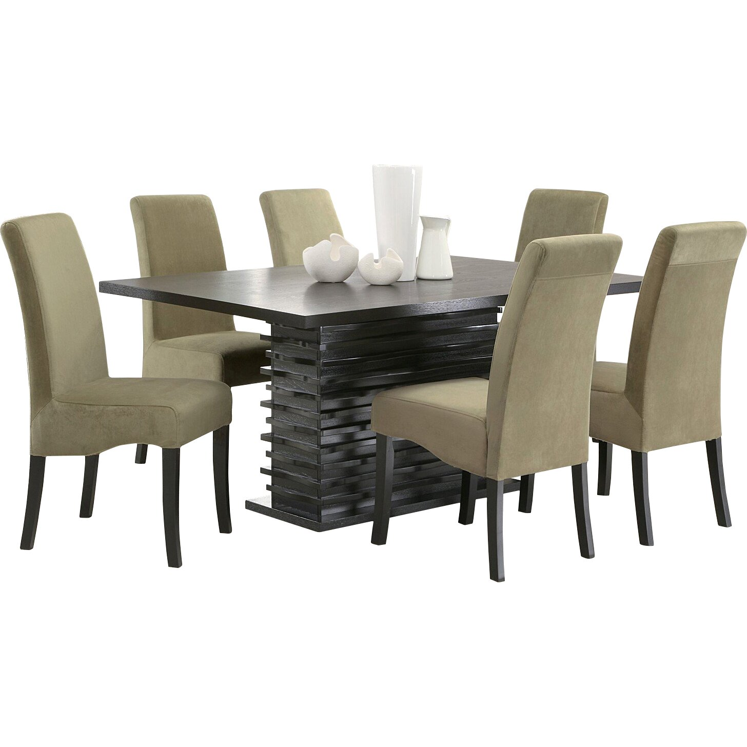 Infini furnishings jordan 7 piece dining set reviews for 2 piece dining room set