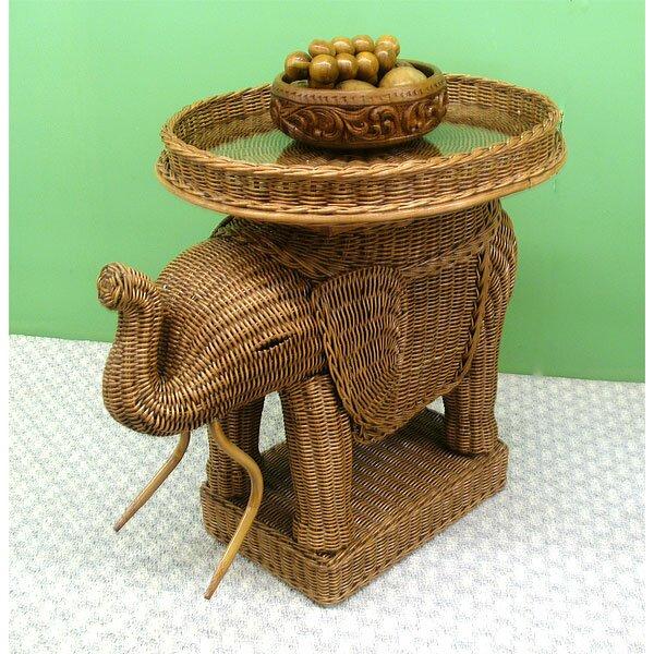 wicker warehouse elephant end table  reviews  wayfair