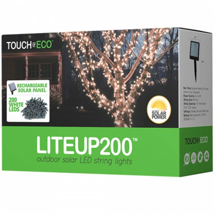Touch Of Eco Liteup 200 Solar String Lights Amp Reviews
