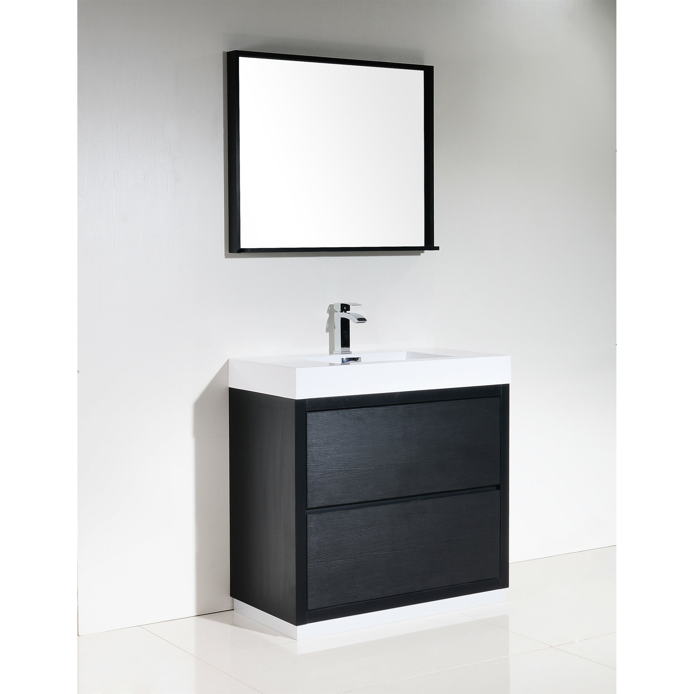 Kube Bath Bliss 36 Single Free Standing Modern Bathroom Vanity Set Reviews