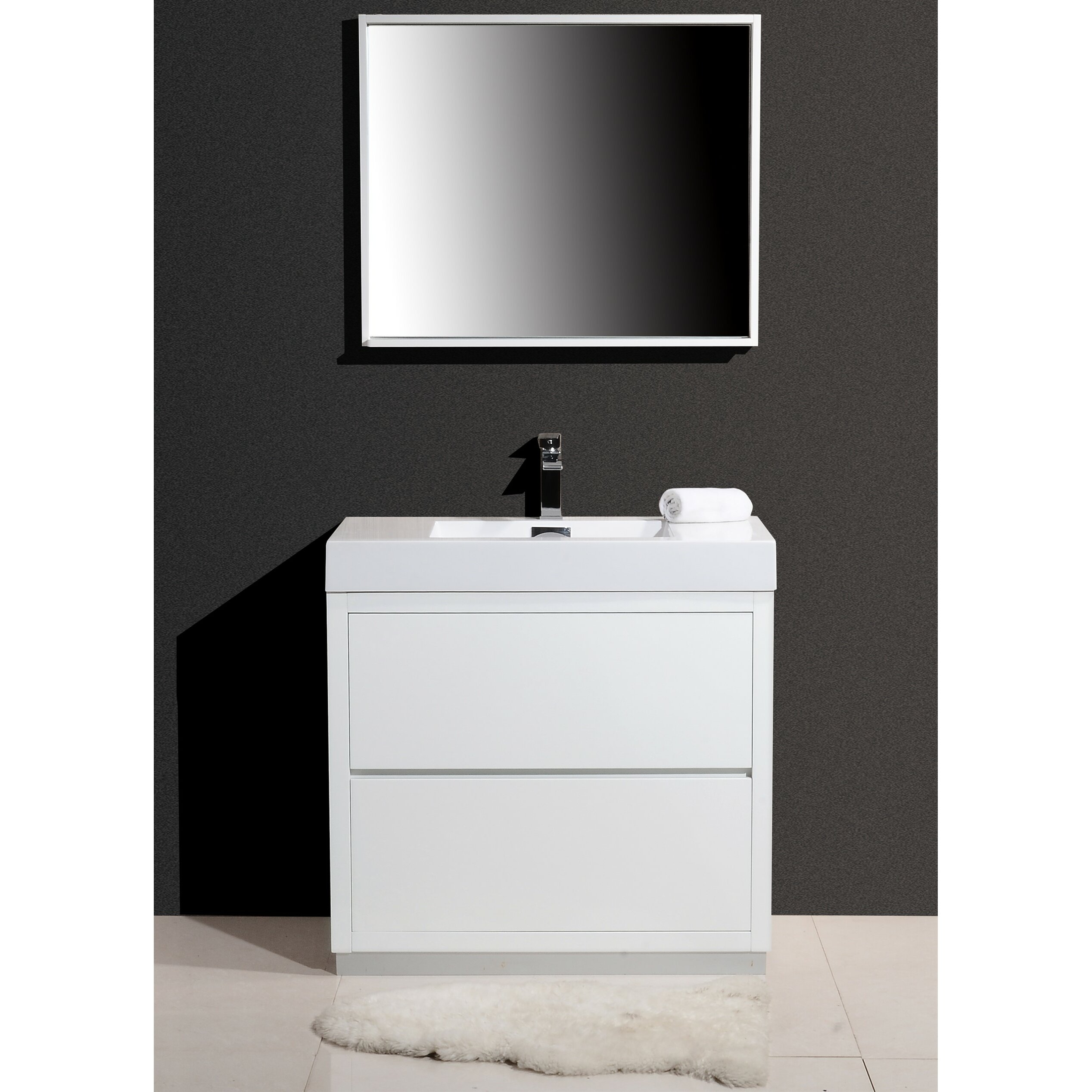 Kube Bath Bliss 36 Single Free Standing Modern Bathroom Vanity Set