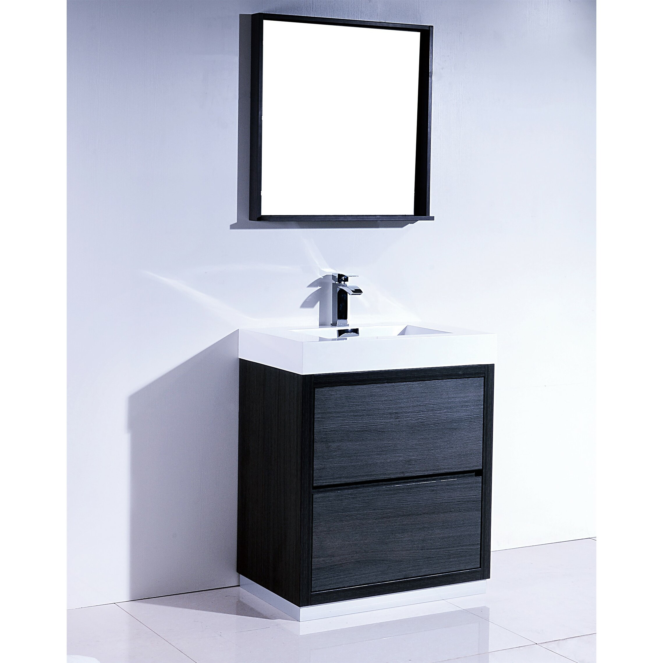 Bathroom Single Vanity Bliss 30 Single Free Standing Modern Bathroom Vanity Set