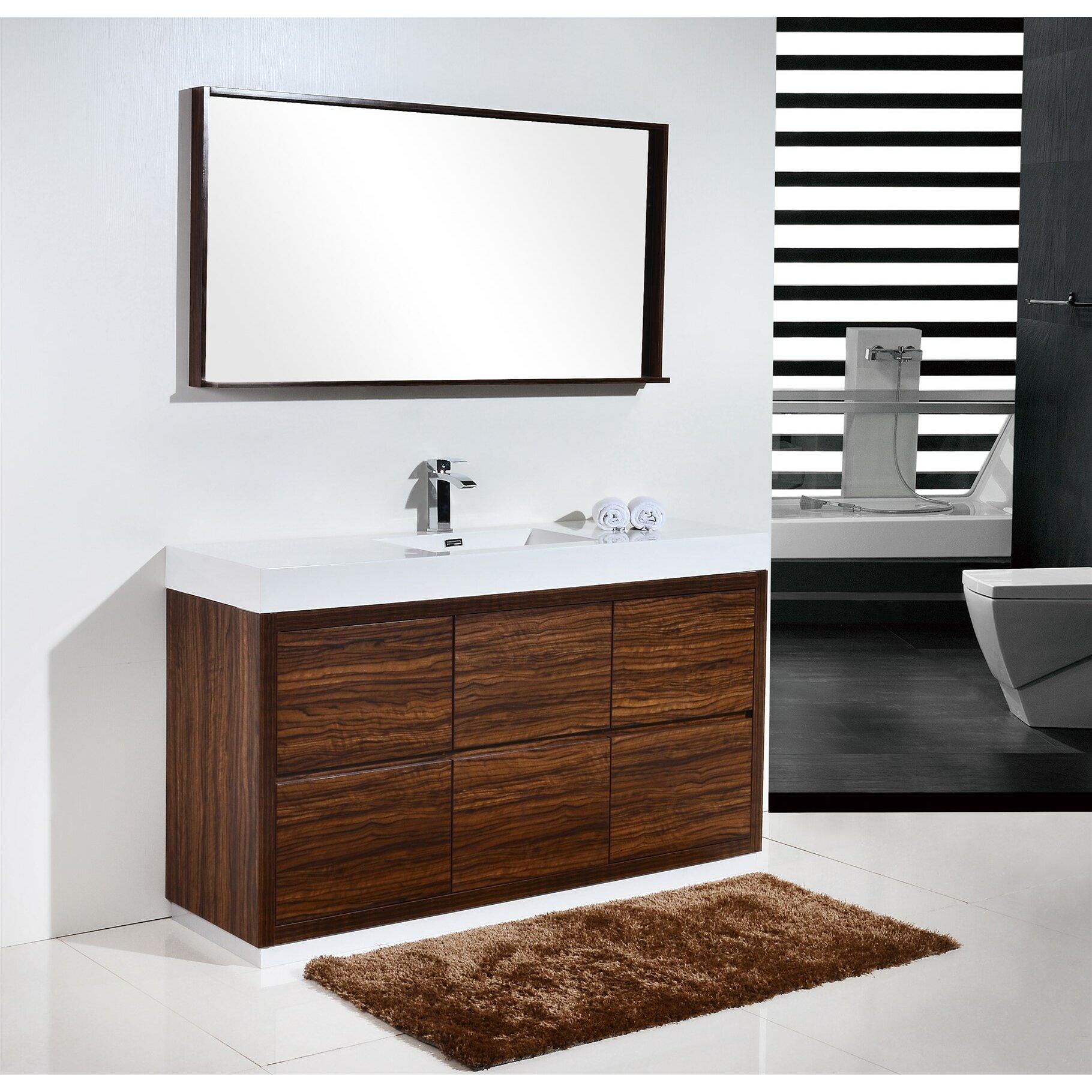 700mm freestanding bathroom vanity traditional bathroom vanities - Kube Bath Bliss 60 Single Free Standing Modern Bathroom Vanity