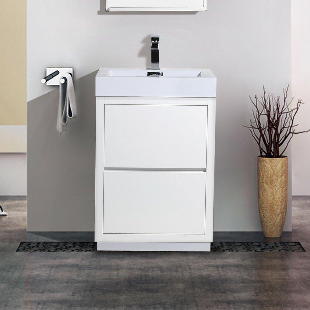 Kube Bath Bliss 24 Single Free Standing Modern Bathroom Vanity .