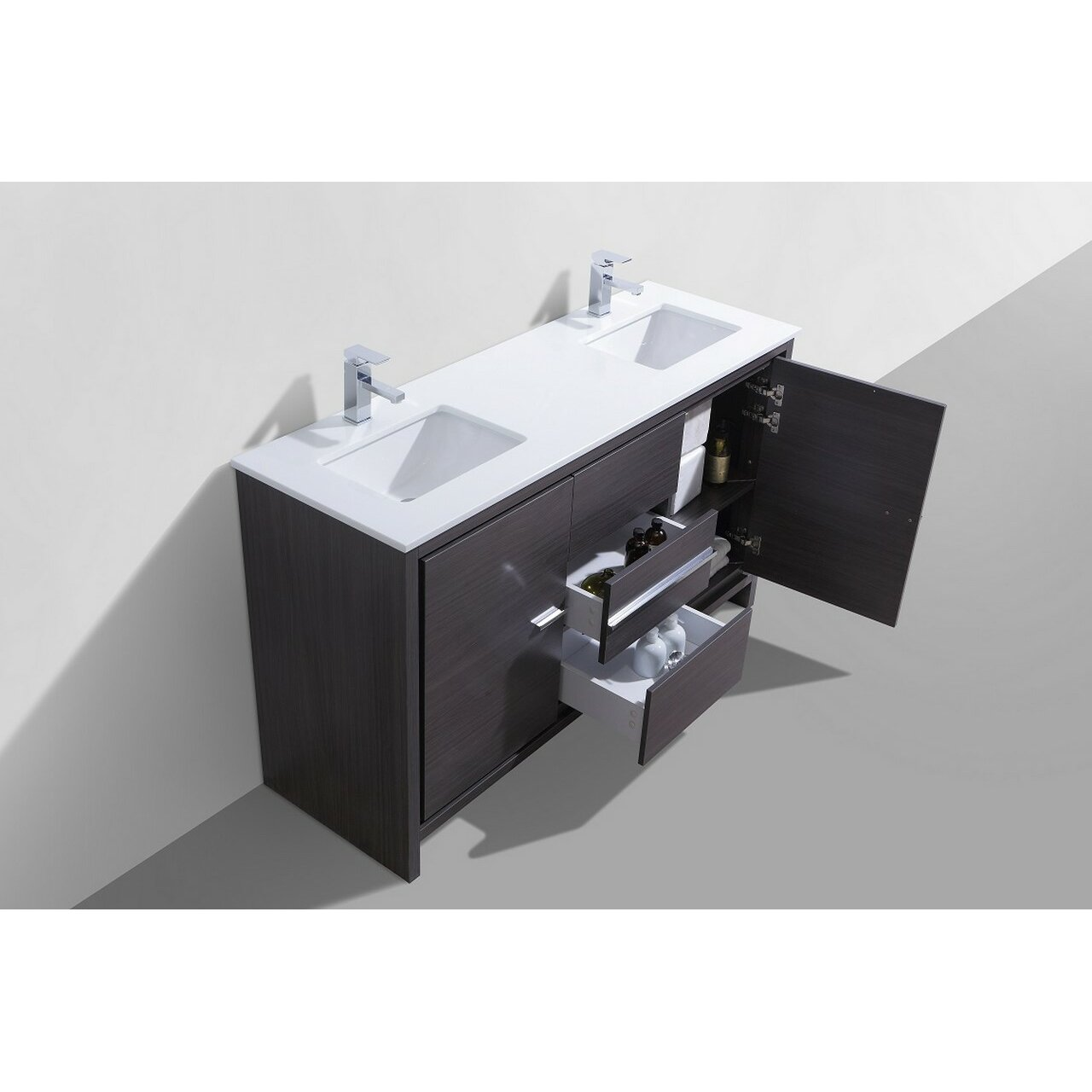 Kube Bath Dolce 60 amp quot  Double Sink Modern Bathroom Vanity. Kube Bath Dolce 60 quot  Double Sink Modern Bathroom Vanity  amp  Reviews