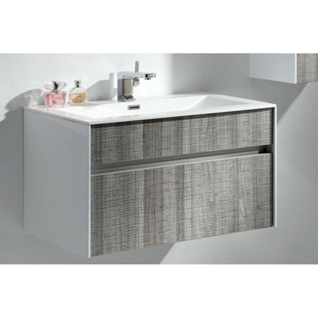 Modern Bathroom Vanity Fitto 32 Single Modern Bathroom Vanity Set Reviews Allmodern