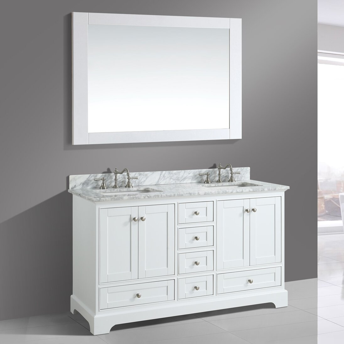 Urban Furnishings Jocelyn  Bathroom Sink Vanity Set With Mirror - Bathroom sink with vanity