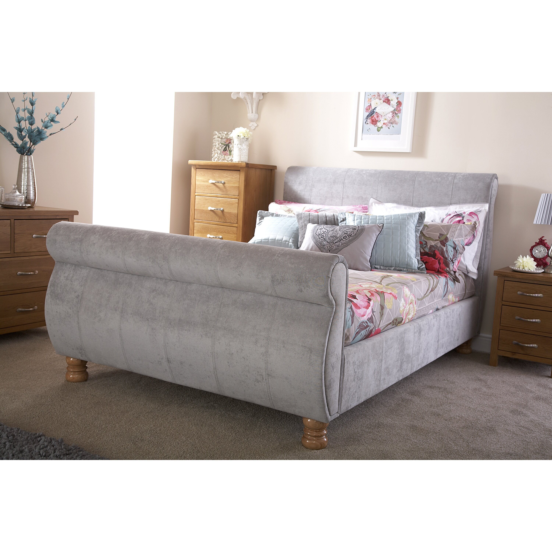 home loft concept doris upholstered sleigh bed reviews wayfair uk. Black Bedroom Furniture Sets. Home Design Ideas
