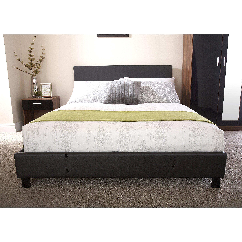 home loft concept beth bed frame reviews. Black Bedroom Furniture Sets. Home Design Ideas