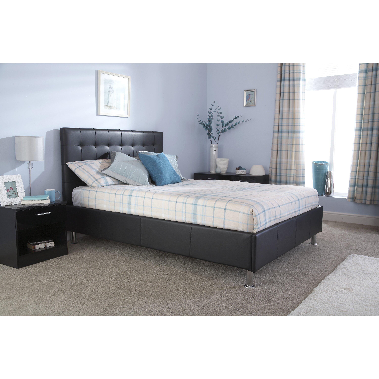 home loft concept nate bed frame reviews. Black Bedroom Furniture Sets. Home Design Ideas