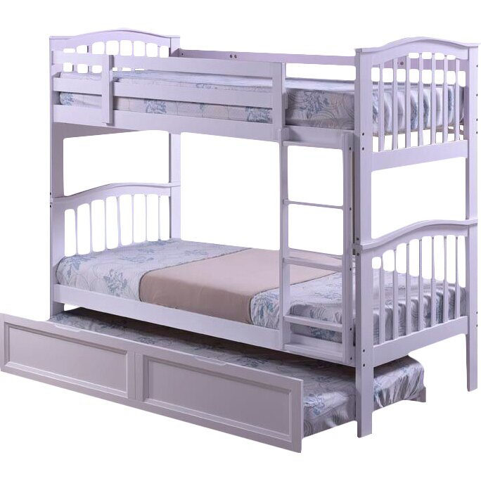 home loft concept dehesa single bunk bed with trundle reviews. Black Bedroom Furniture Sets. Home Design Ideas