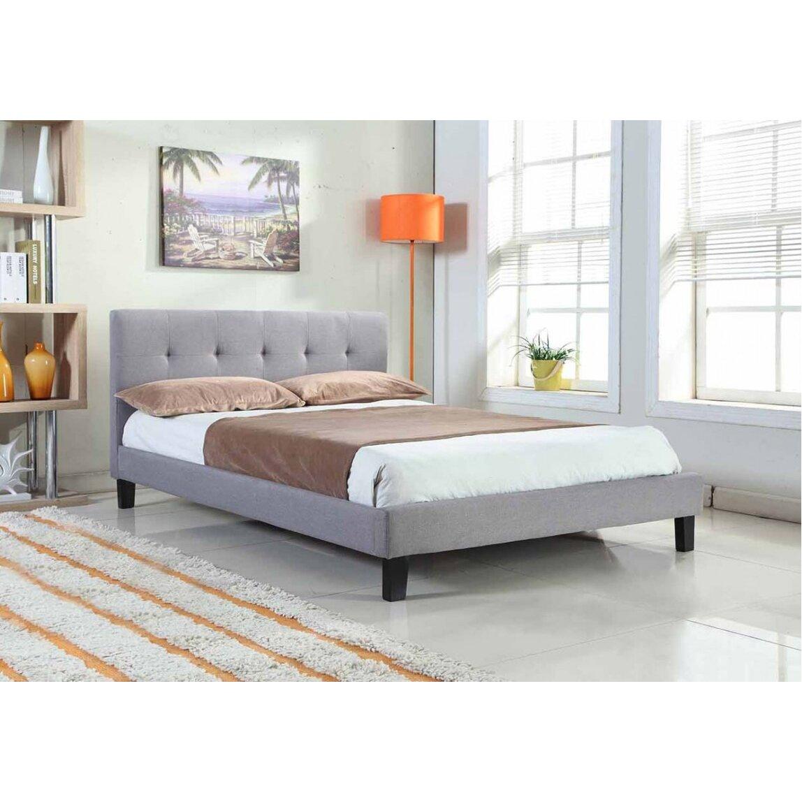 home loft concept barrosa upholstered bed frame reviews. Black Bedroom Furniture Sets. Home Design Ideas