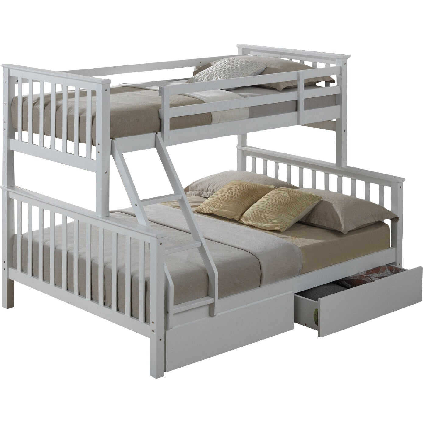 Home loft concept mara triple sleeper bunk bed with for Concept beds