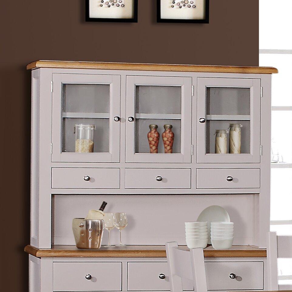 Hutch Display Cabinet Hazelwood Home Vigo Hutch Display Cabinet Wayfaircouk