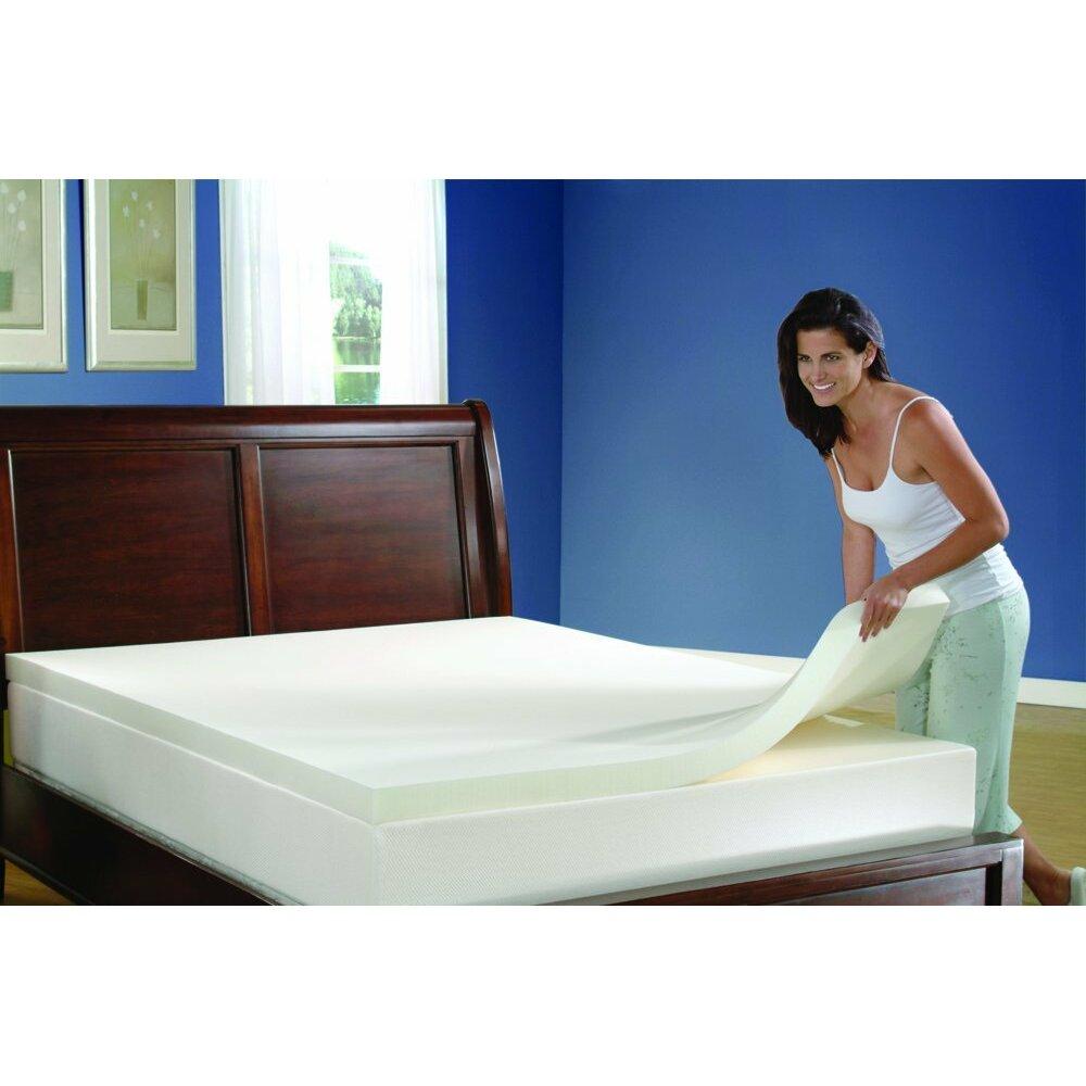 comforzen full memory foam mattress topper reviews wayfair. Black Bedroom Furniture Sets. Home Design Ideas